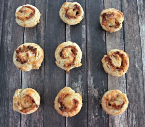 Smoked Cheddar and Bacon Biscuit Rollups