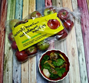 no name® Naturally Imperfect™ Warm Spinach and Apple Salad