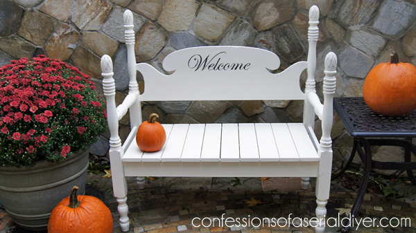 How to build a bench from an old headboard
