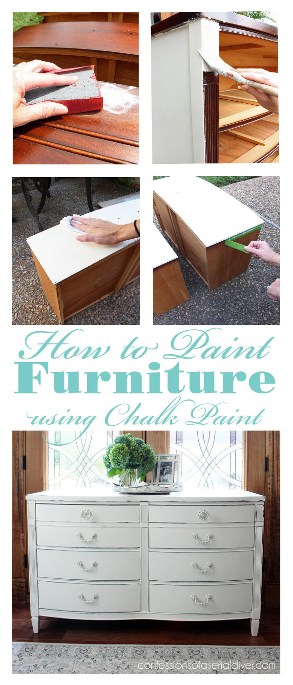 this tutorial shows how to paint furniture with chalk paint from start to finish