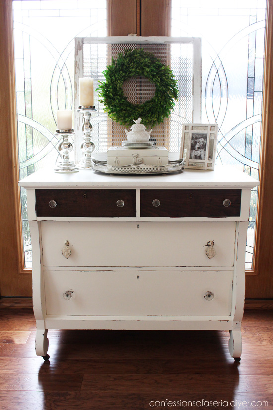 Empire Dresser Makeover From Confessions Of A Serial Do It Yourselfer · Two  Tone ...