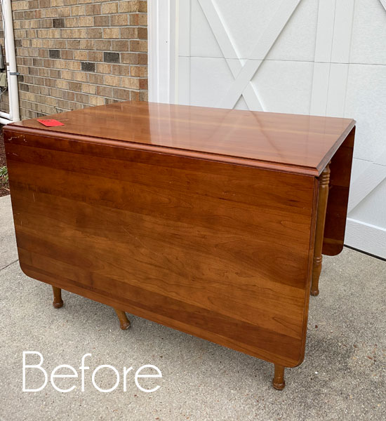 Thrift Store Clearance Drop Leaf Table Makeover Confessions Of A Serial Do It Yourselfer