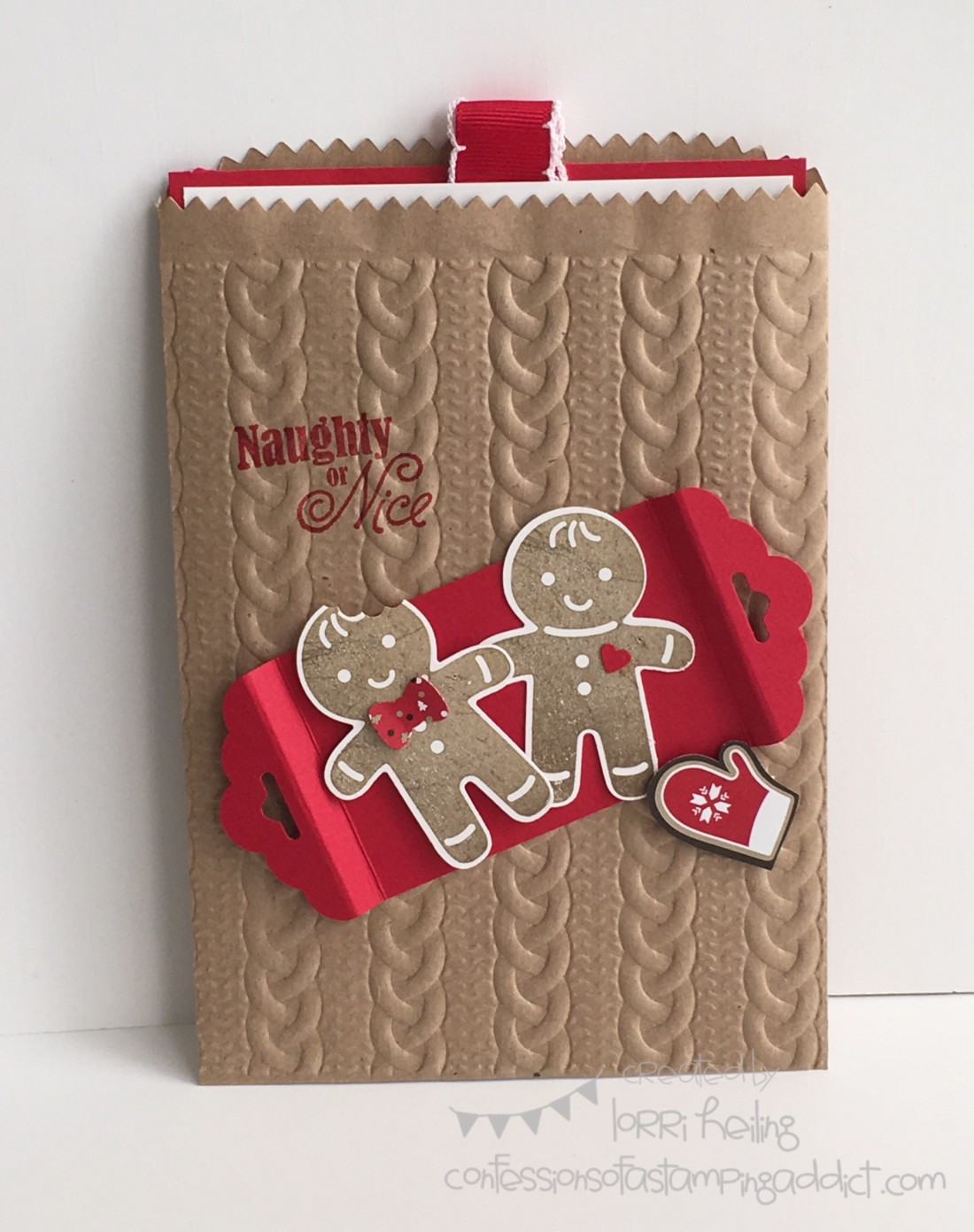 Gift Card Holder With Cookie Cutter Christmas