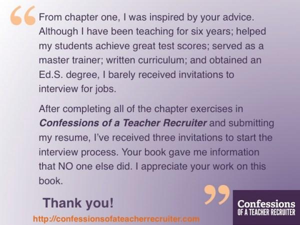 review of amazoncom teacher resume book