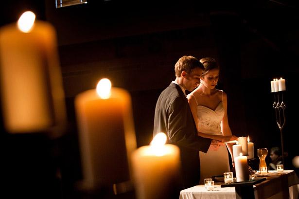 unity candle wedding ceremony confetti