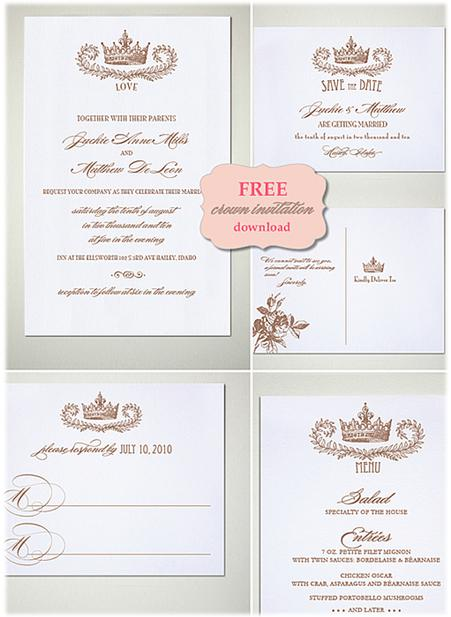 Use This Glamorous Crown Monogram To Create Your Wedding Invitation Card It May Seem Ordinary Just A But One Will Make You Feel Like