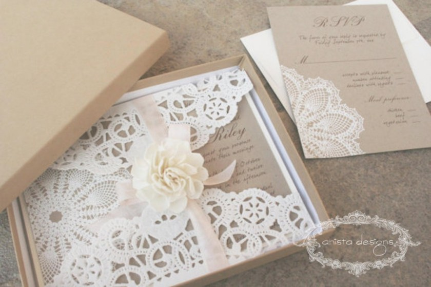 Rustic Wedding Invitation Anista Designs