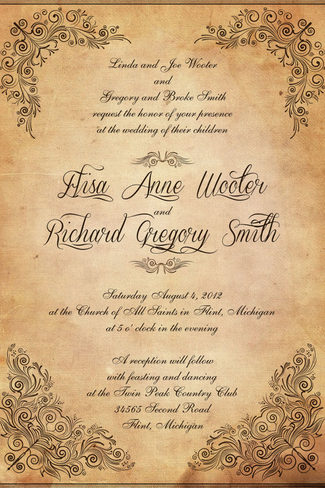 Free Antique Wedding Invitation Templates