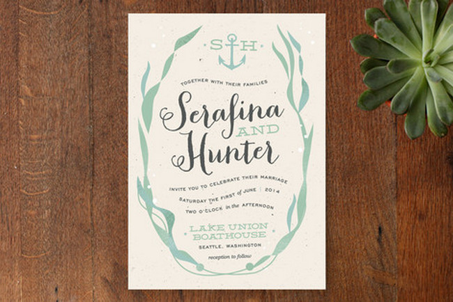 Ombre Beach Wedding Invitations