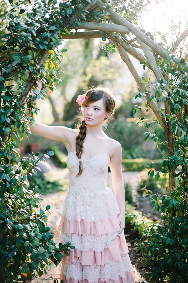 Rapunzel Inspired Long Hair Styles for Spring Weddings // Debbie Lourens Photography Paramithi flowers // Alana van Heerden Dresses