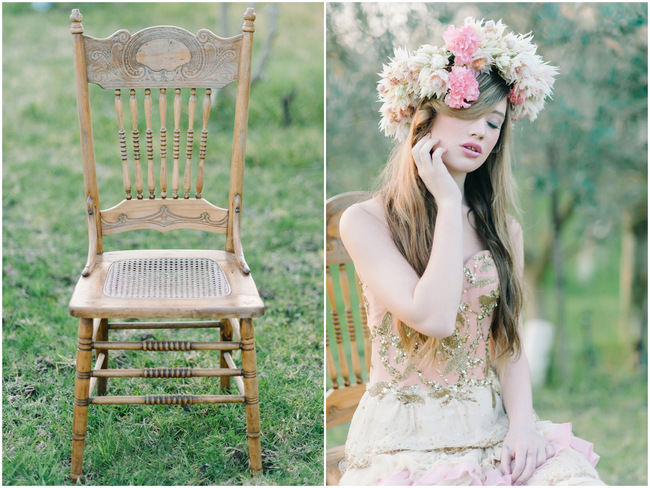 Rapunzel Inspired Long Hair Styles for Spring Weddings // Debbie Lourens Photography // Fringe Hair and Make-up // Paramithi flowers