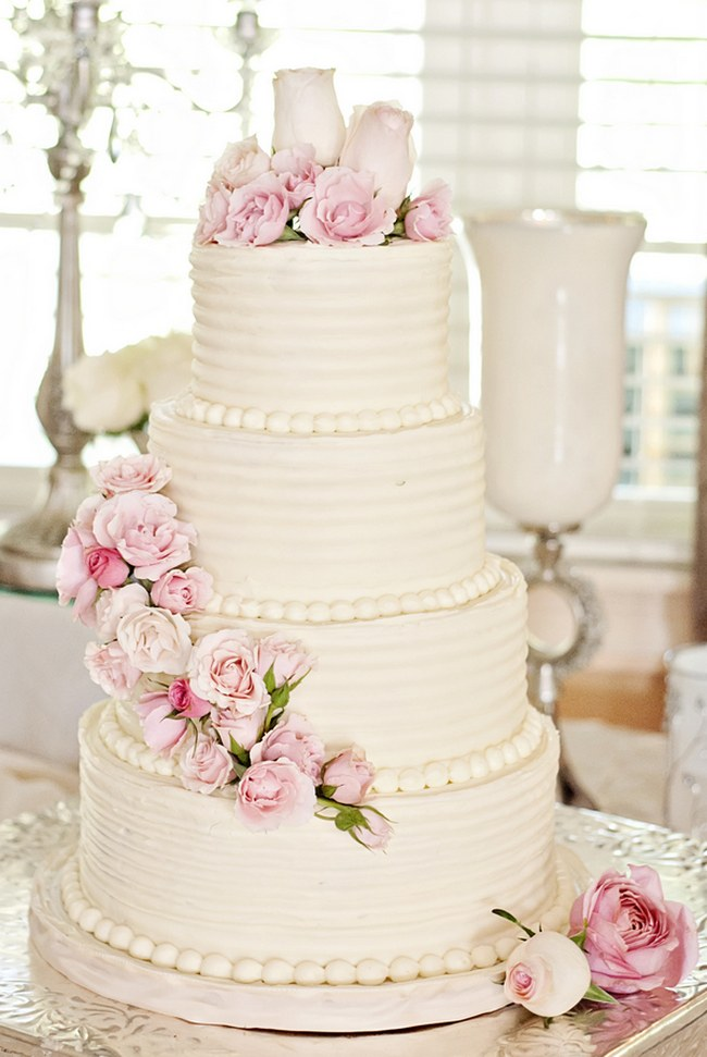 7 All White Wedding Cakes We This Moncheribridals Com