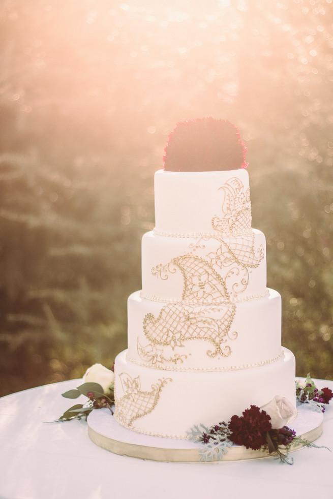 Marsala Amp Gold Romance Winter Wedding