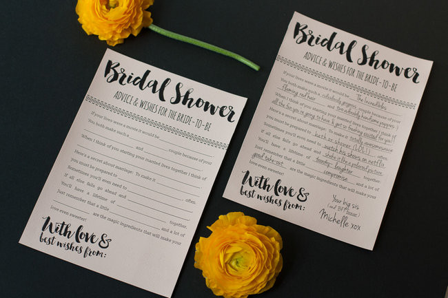 Bridal Shower Printable Cards Wishes To Special Couple