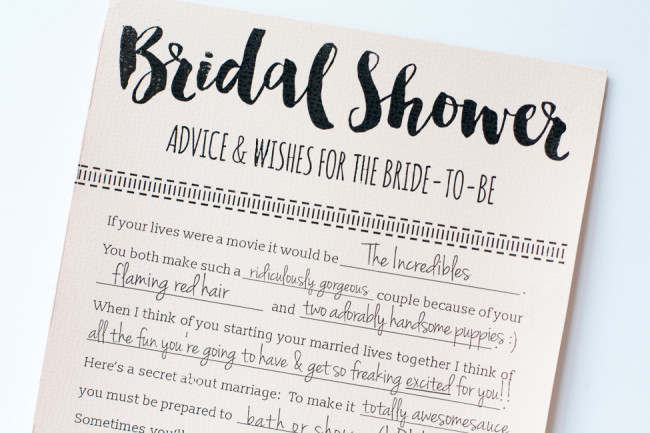 These Printable Bridal Shower Advice Cards Are So Fun And It S A Free