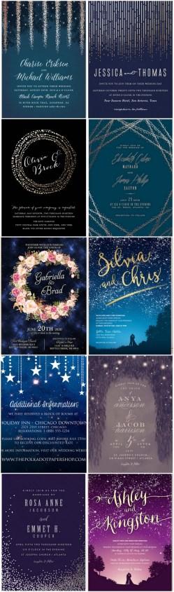 a celestial invitation in top celestial wedding invitations starry