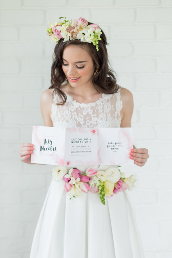 Beautiful Blush Watercolor Wedding Ideas Adele Kloppers