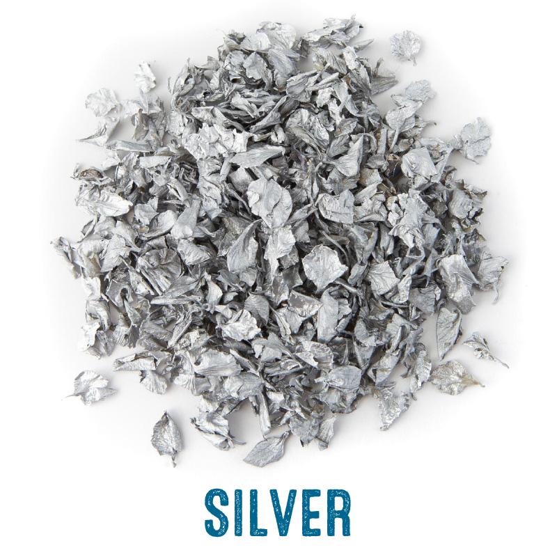 Silver delphinium confetti