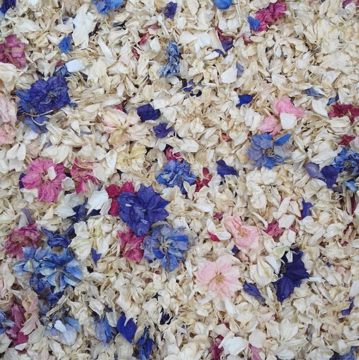 British Flower Field Confetti mix natural petals special offer real flower petal confetti 2019