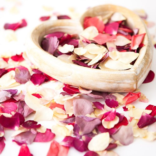 Create Your Own Bespoke Mix - Small Natural Rose Petal Confetti