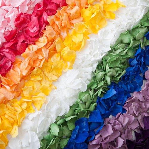 different colours of confetti