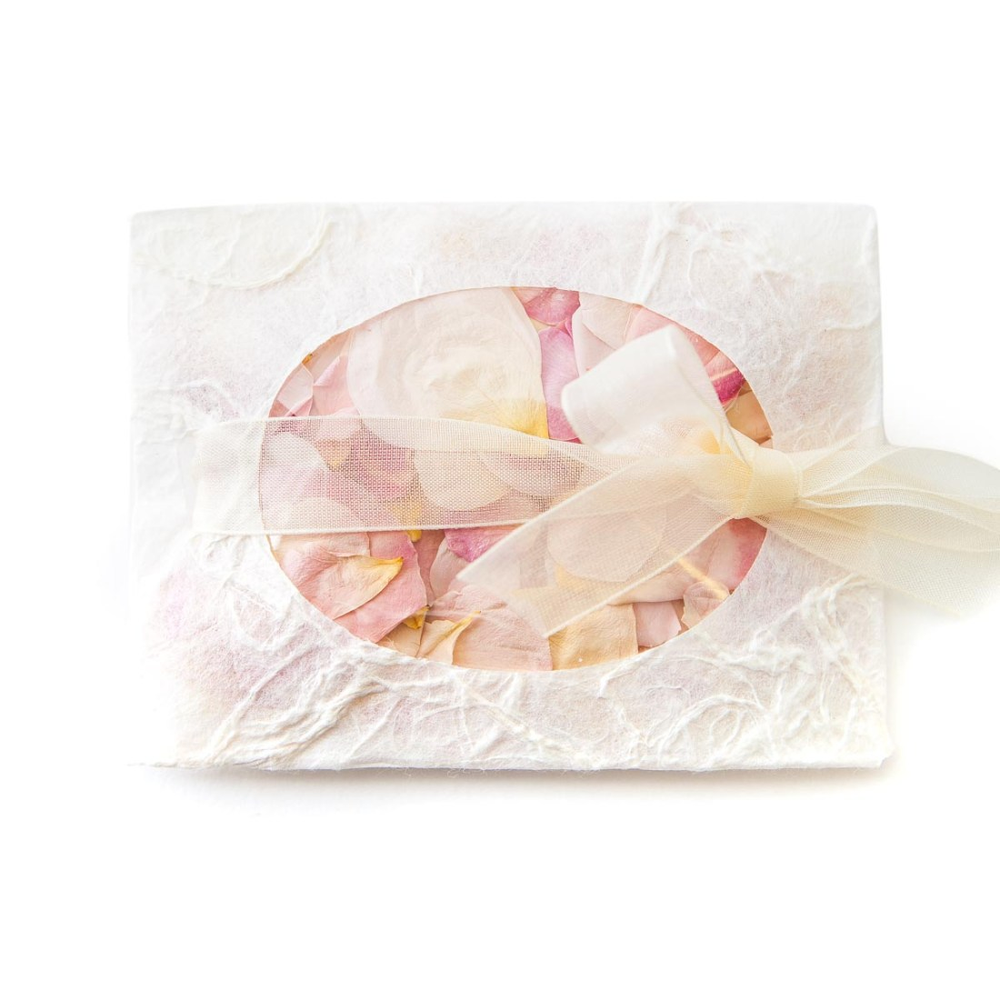 real flower petal confetti rose petal confetti envelope