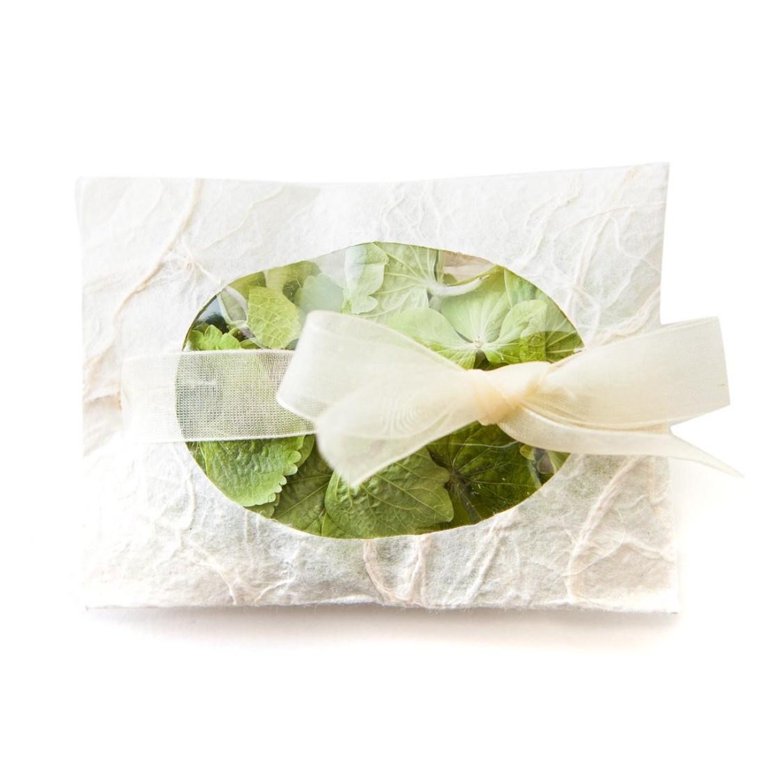 hydrangea petals confetti envelope