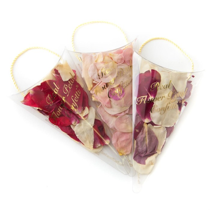 small natural rose petal rose confetti sachet