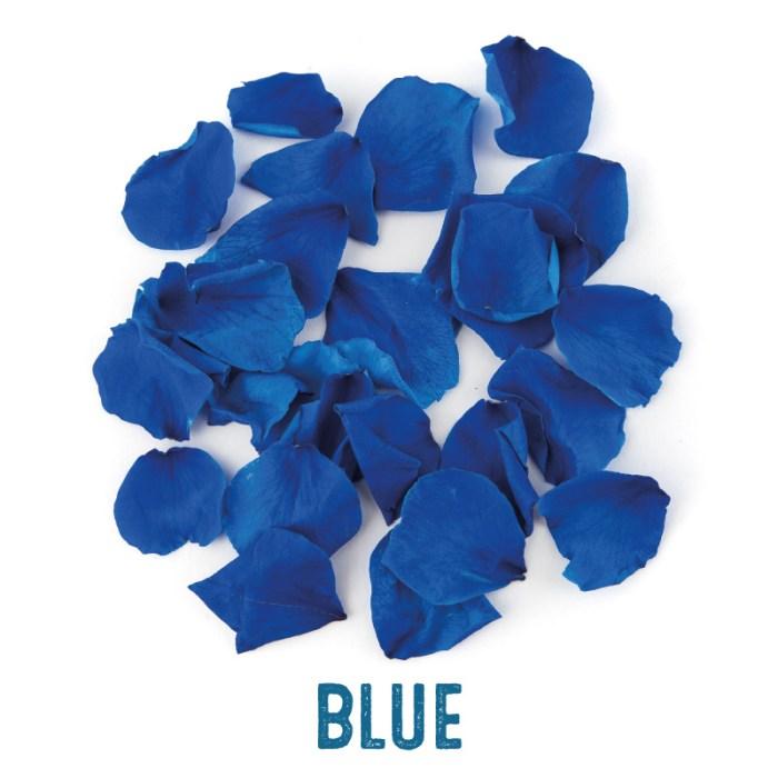 Blue coloured Rose Petal Confetti