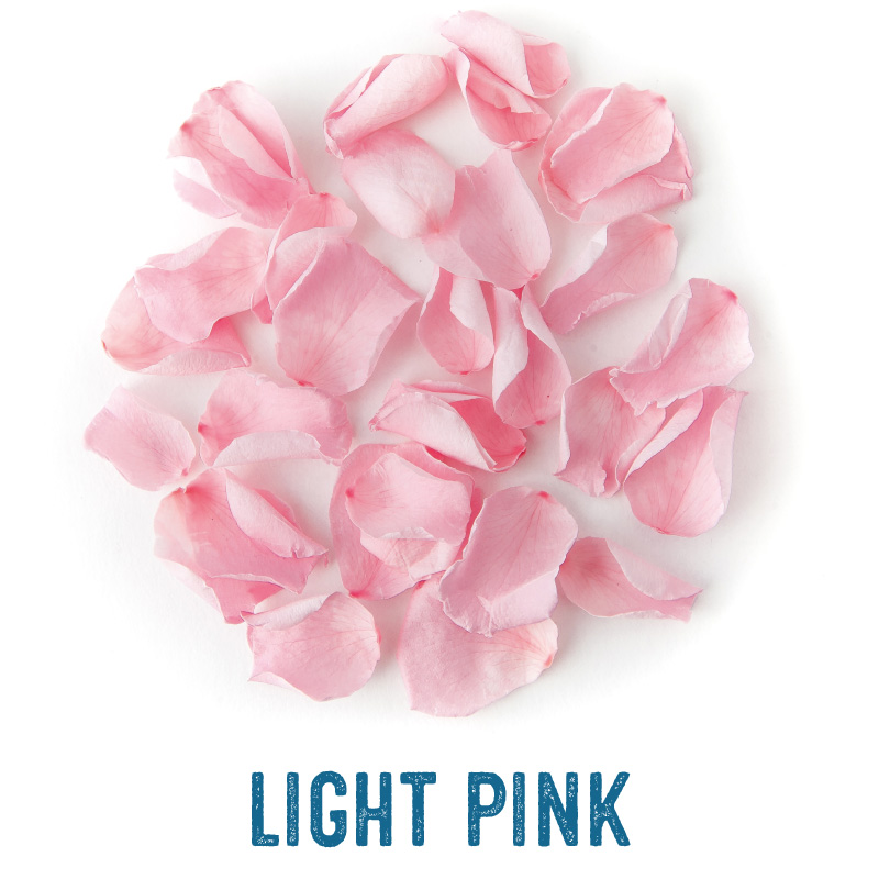 Light Pink coloured Rose Petal Confetti