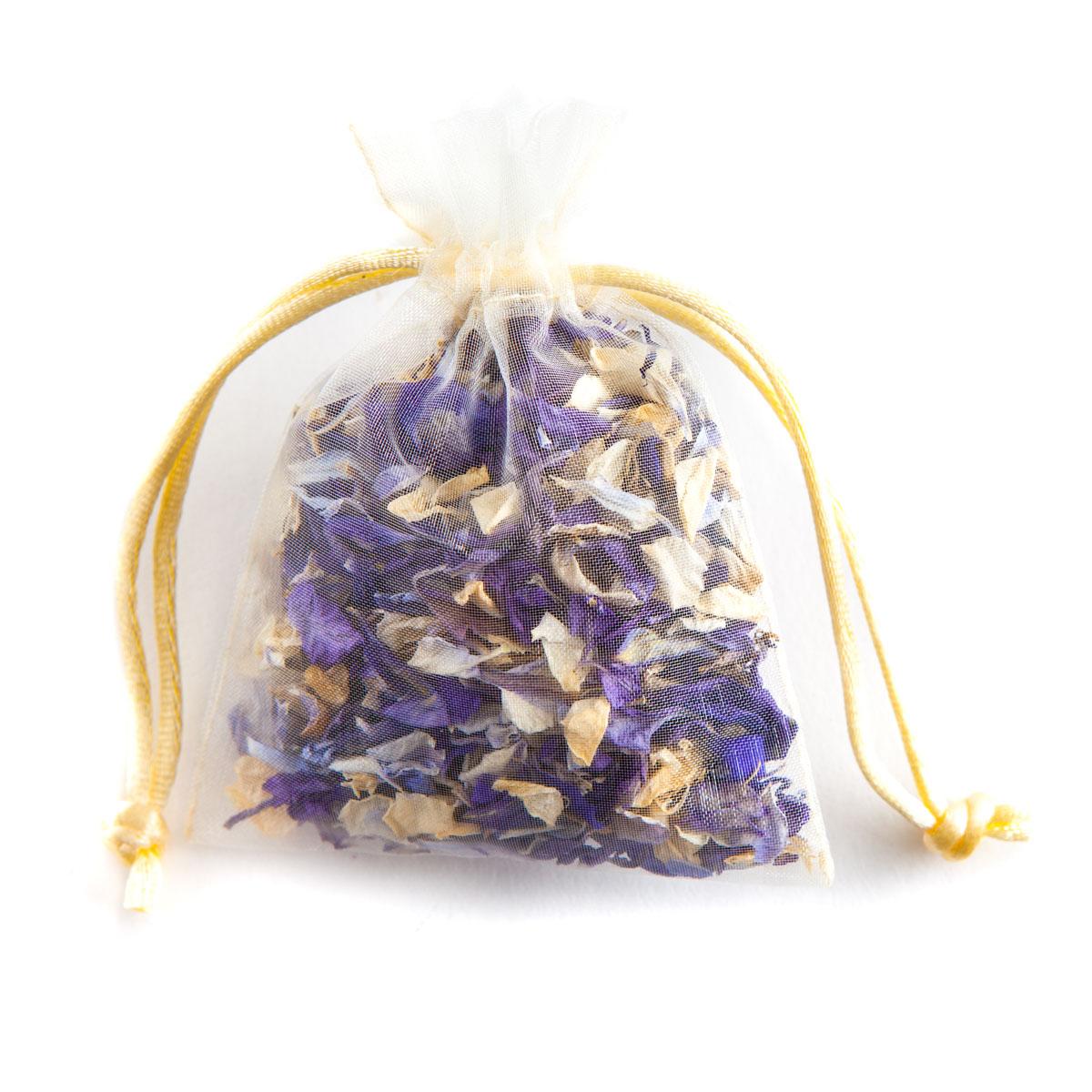 Biodegradable Confetti - Violet Mix Delphiniums - Petal Bag