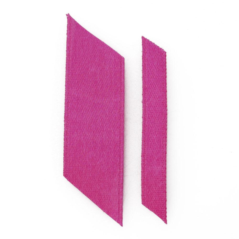 bright pink ribbons wedding ribbon real flower petal confetti company