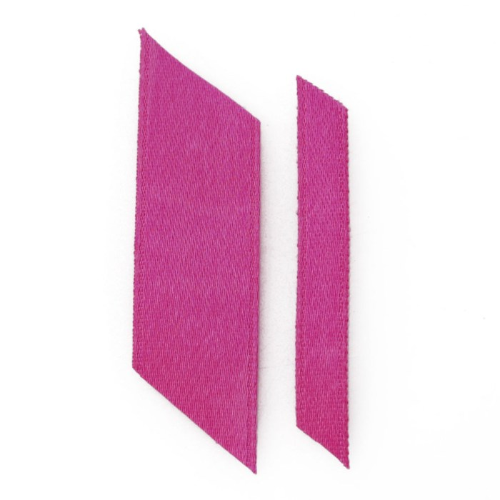 bright pink ribbons wedding ribbon real flower petal confetti company