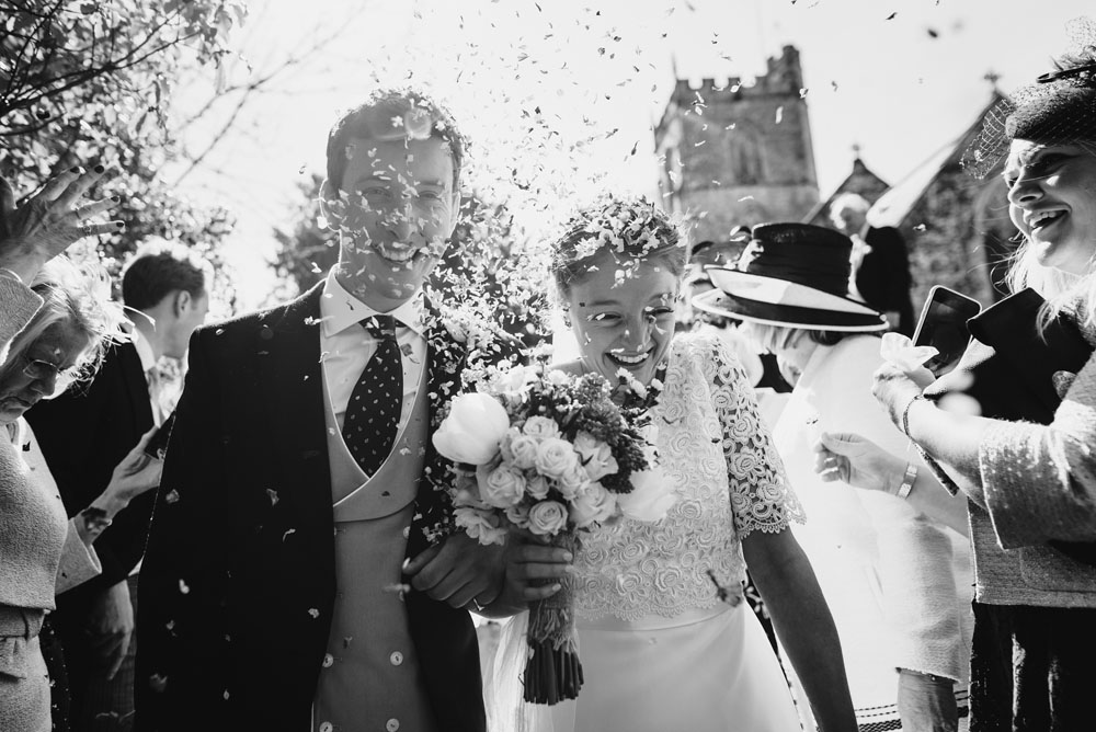 Biodegradable Confetti Photo - just married!