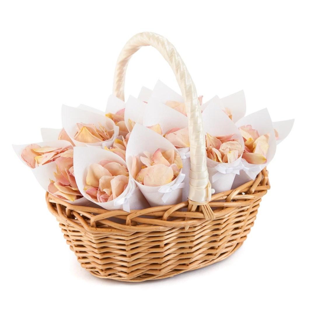 Confetti Moment - confetti cone rose petal basket