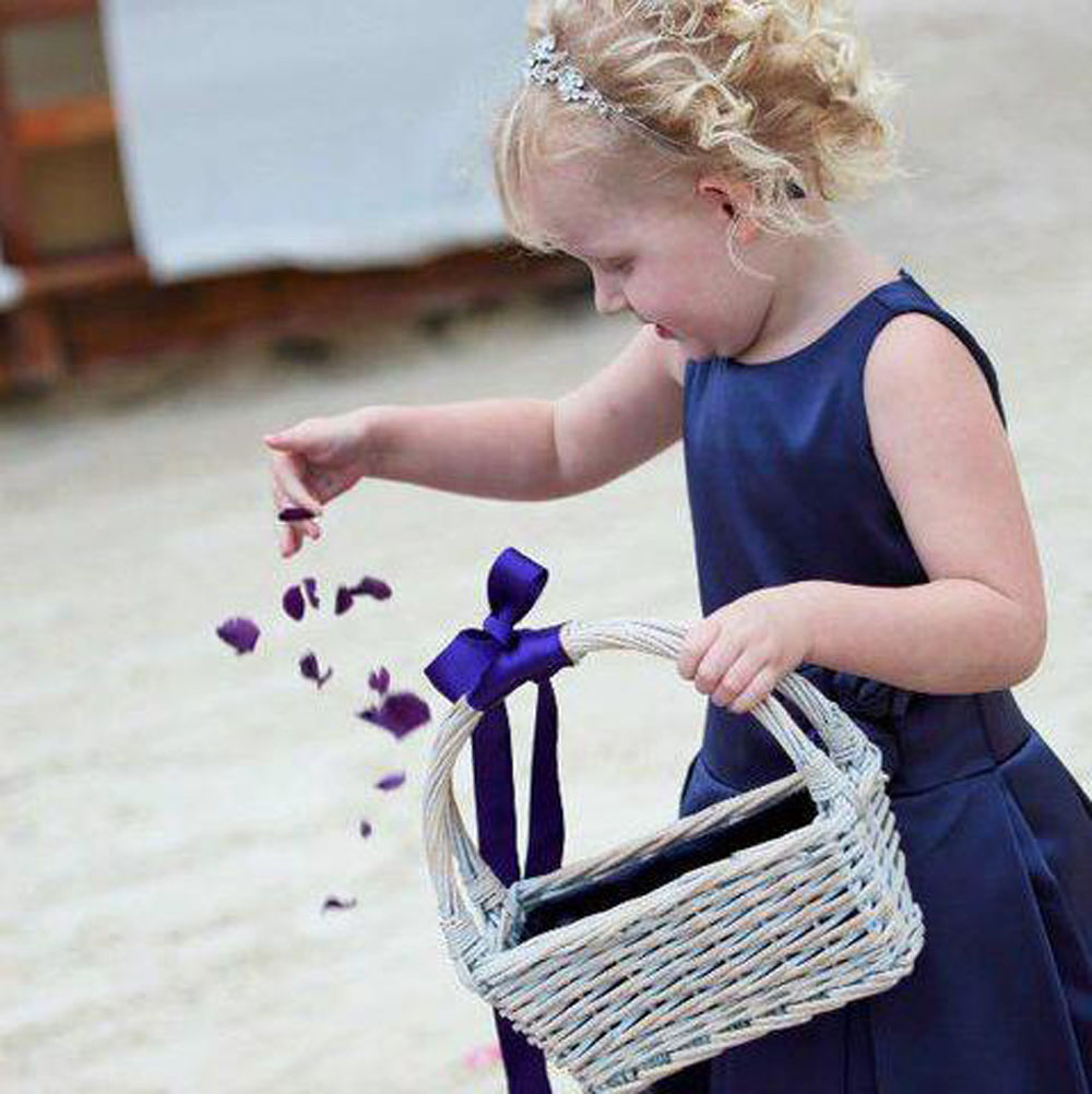 Flower girl baskets - scattering petals