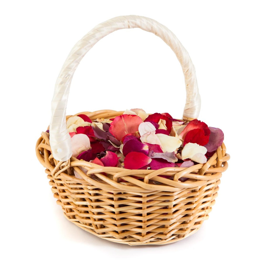 Flower girl baskets - Rainbow Rose Petals