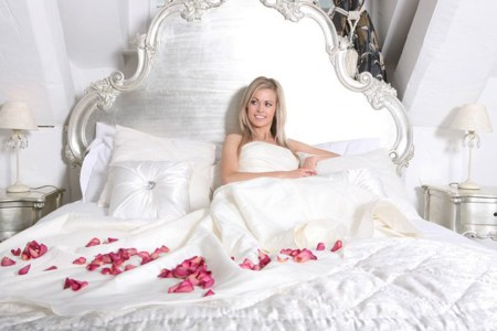 Red Rose Petals - decorate a bed