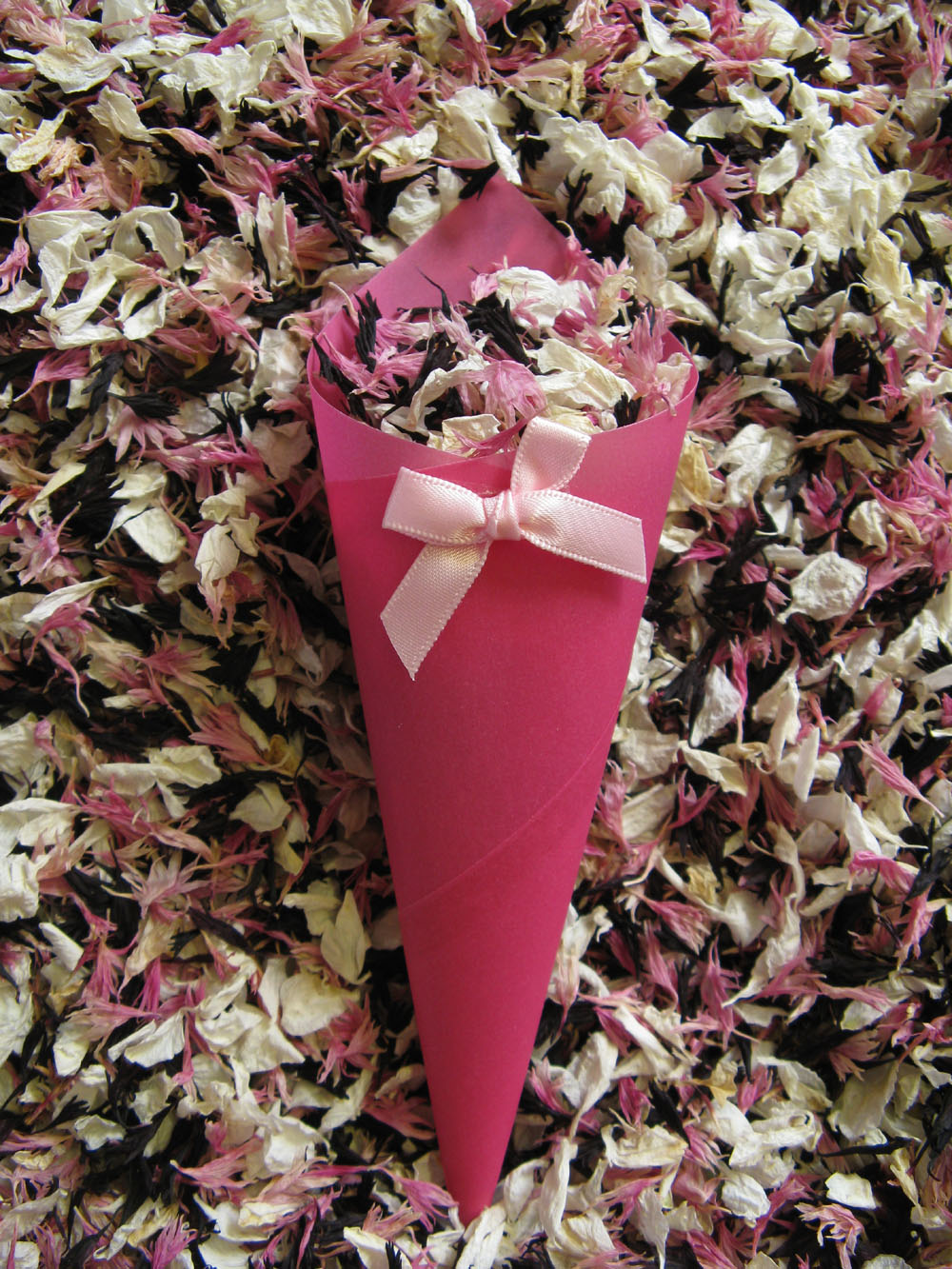 Petal Confetti - Delphiniums, Wildflowers and Lavender - Ivory, Tudor Pink and Blackberry confetti petals