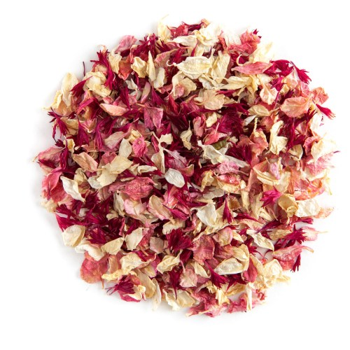 Ruby Twist confetti petals - Biodegradable Confetti - Real Flower Petal Confetti