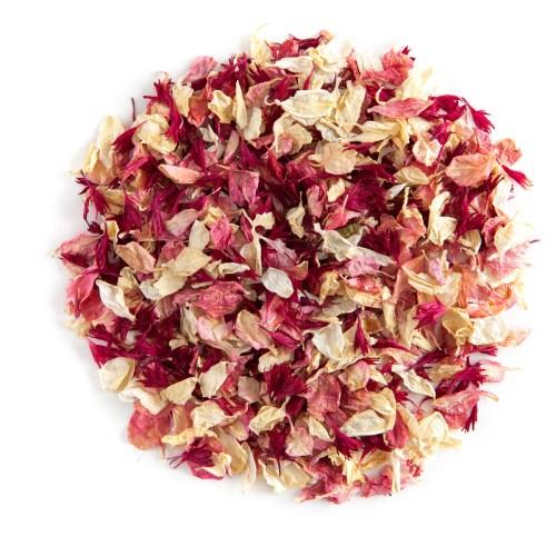 Ruby Twist confetti petals - Biodegradable Confetti - Real Flower Petal Confetti
