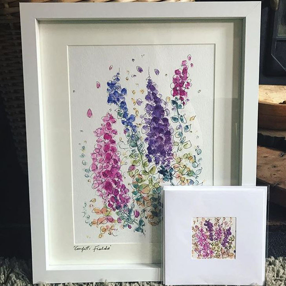 Hayley Reynolds - Baby Marble Designs - The Confetti Flower Field artist in residence