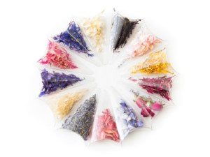 Petals from the confetti sample service