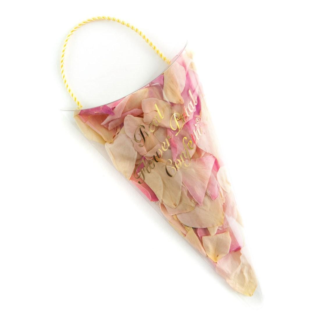 Biodegradable Confetti - Soft Pinks Rose Petals - Petal Sachet