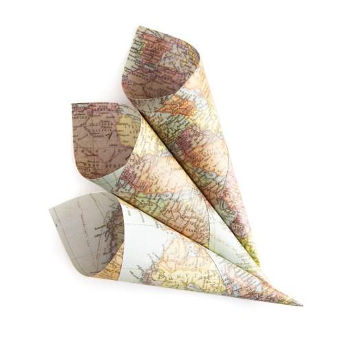 map confetti cones