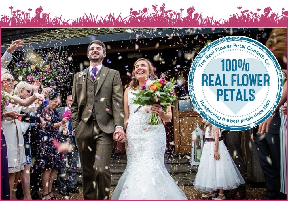 a confetti moment with our 100% real flower petal confetti