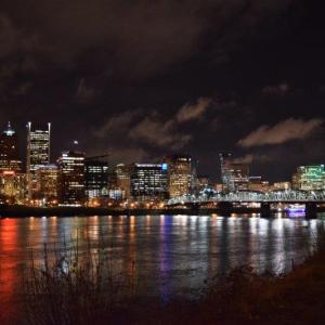 Portland at night