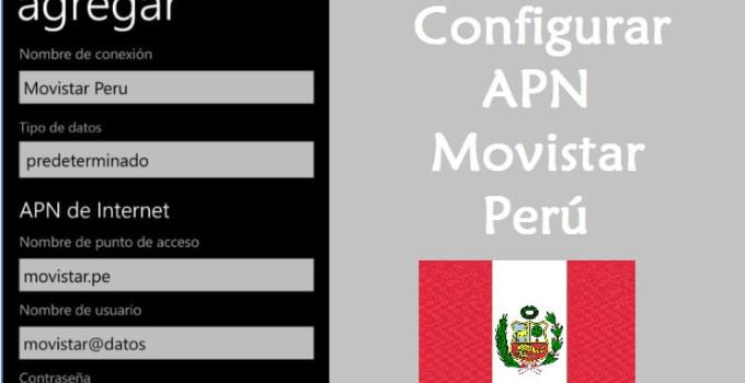 como configurar apn movistar peru windows phone