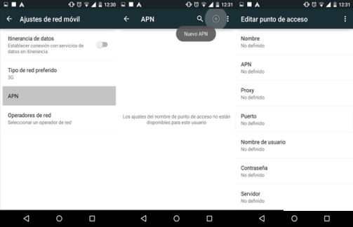 como reparar configurar apn claro el salvador en android