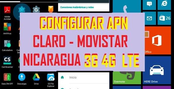 como reparar internet configurar apn claro movistar nicaragua android 2017